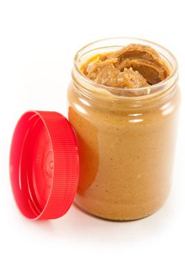 Jar of Natural Peanut Butter
